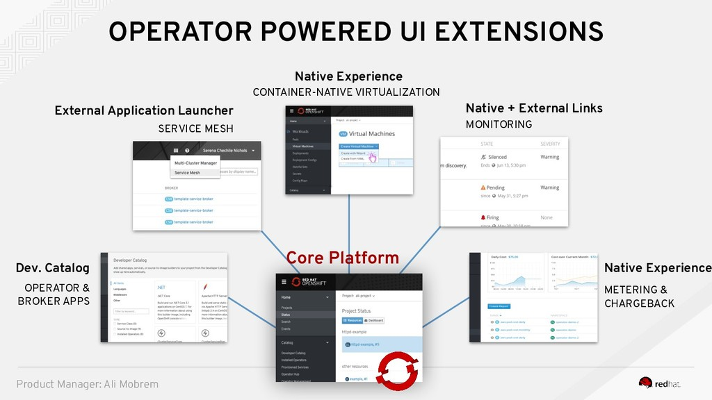 OPERATOR POWERED UI EXTENSIONS SERVICE MESH Ext...