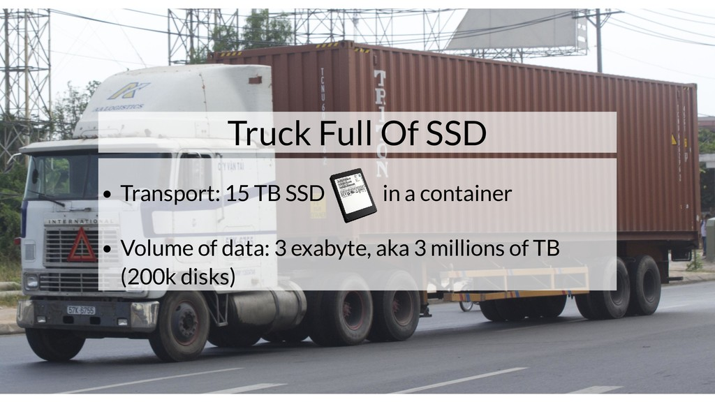 Truck Full Of SSD Transport: 15 TB SSD in a con...