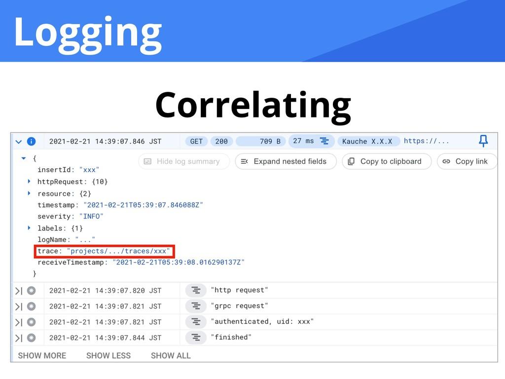 Logging Correlating