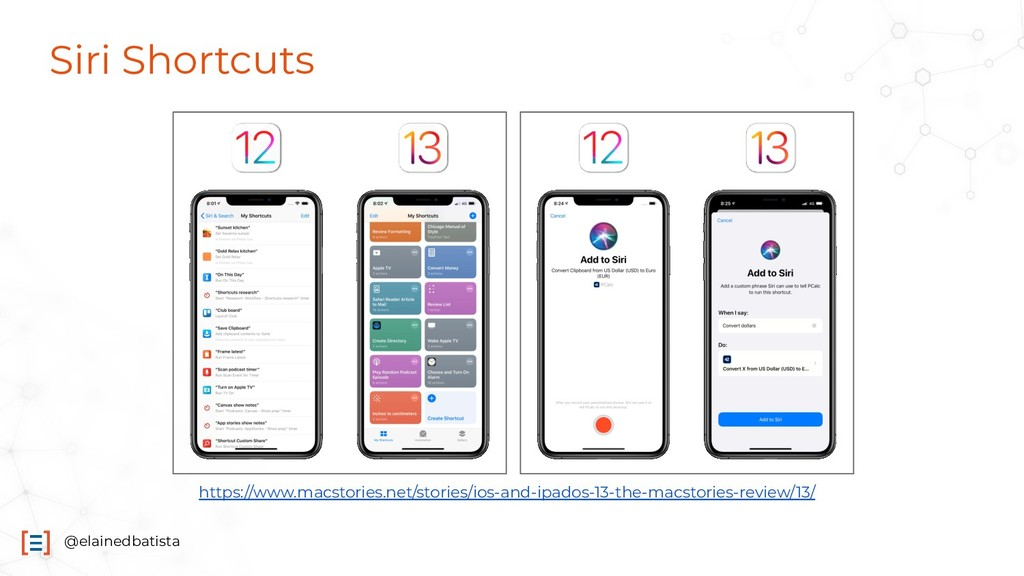 @elainedbatista Siri Shortcuts https://www.macs...