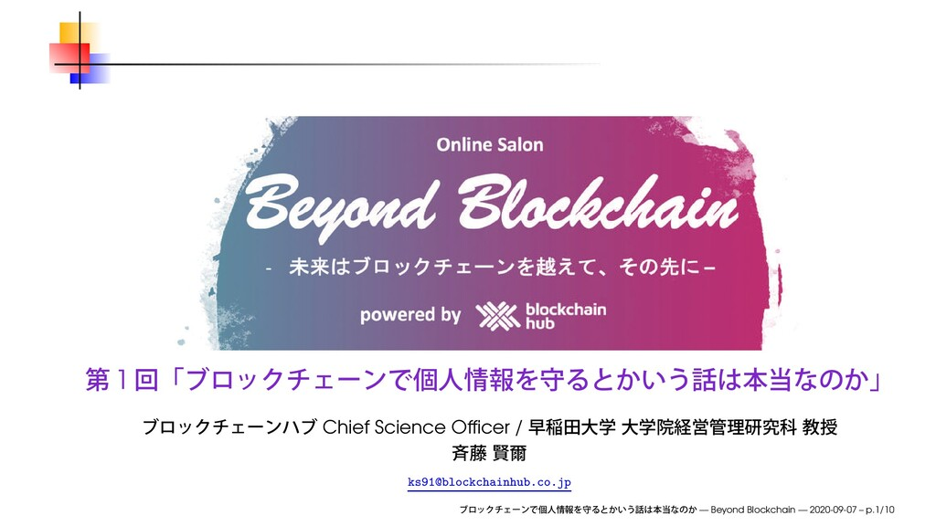 1 Chief Science Officer / ks91@blockchainhub.co....
