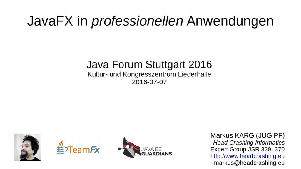 JavaFX in professionellen Anwendungen Java Foru...