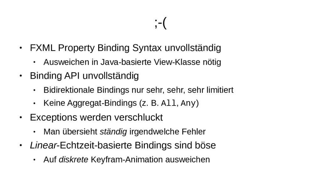 ;-( ● FXML Property Binding Syntax unvollständi...