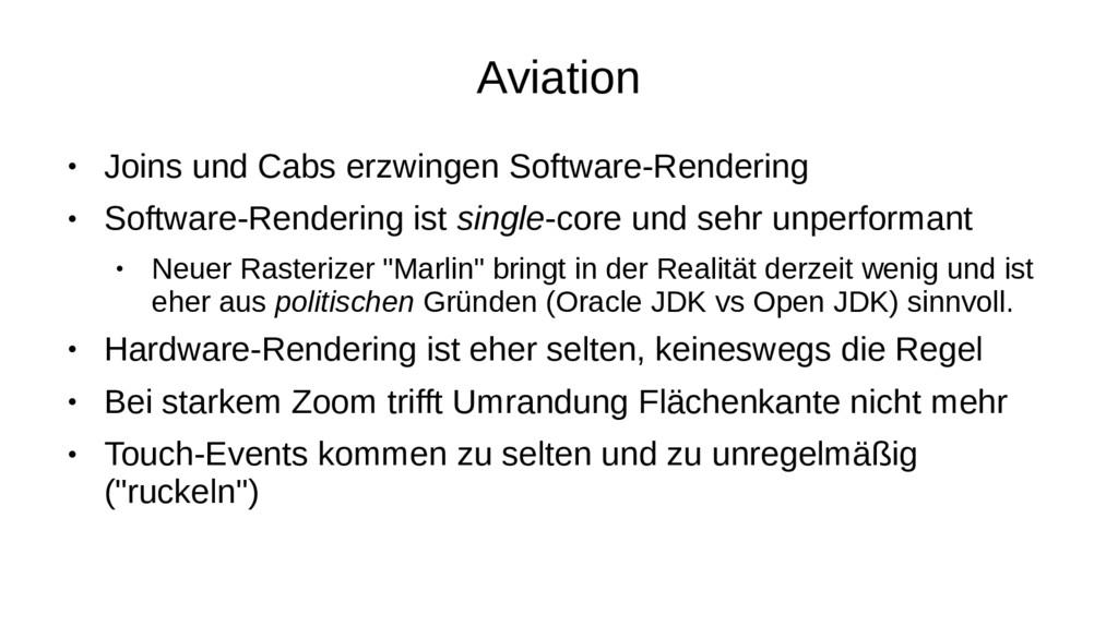 Aviation ● Joins und Cabs erzwingen Software-Re...