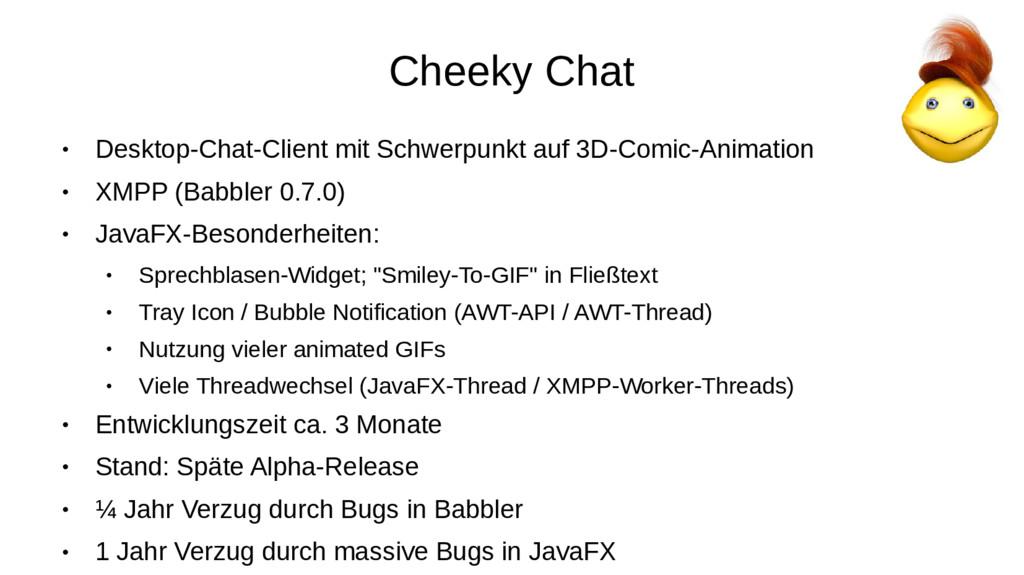 Cheeky Chat ● Desktop-Chat-Client mit Schwerpun...