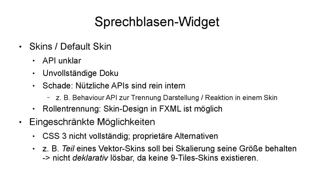 Sprechblasen-Widget ● Skins / Default Skin ● AP...