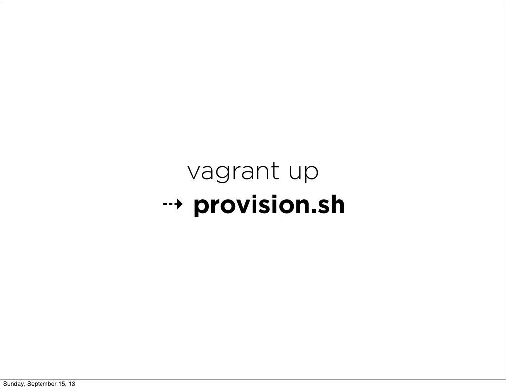 vagrant up ⇢ provision.sh Sunday, September 15,...