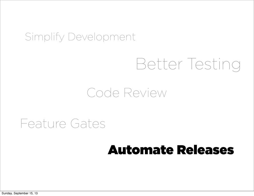 Better Testing Simplify Development Automate Re...