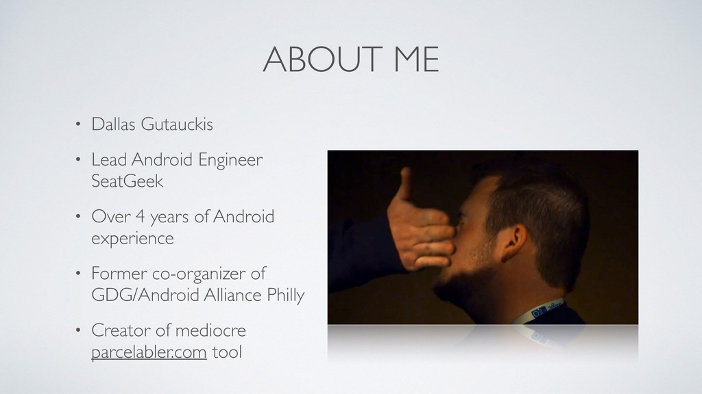 ABOUT ME • Dallas Gutauckis	 