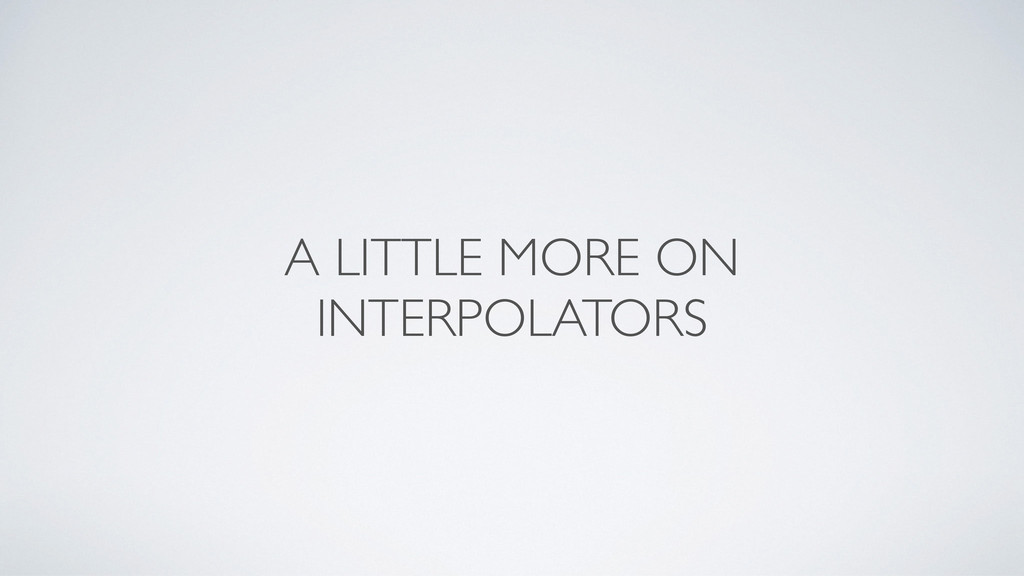 A LITTLE MORE ON INTERPOLATORS