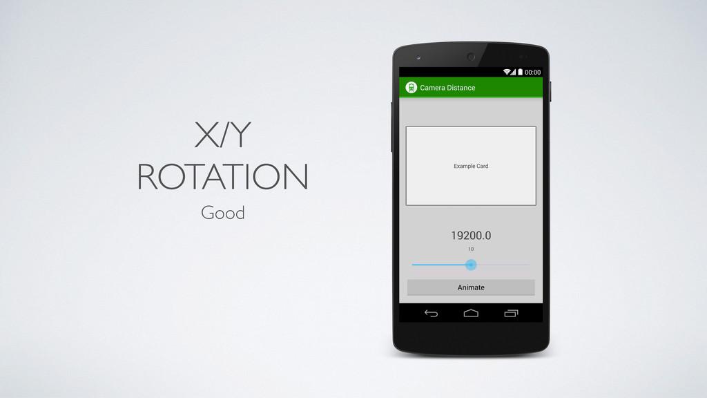 X/Y ROTATION Good
