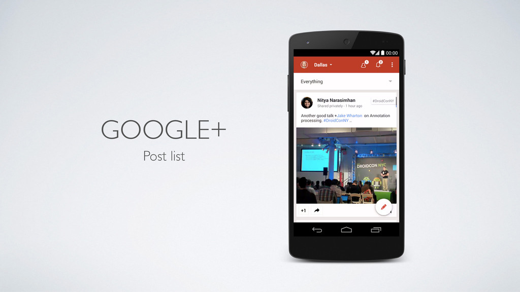 GOOGLE+ Post list