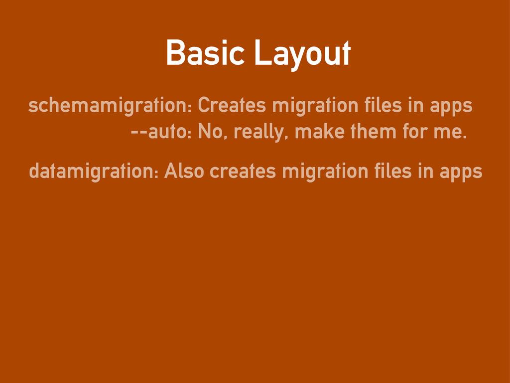 Basic Layout schemamigration: Creates migration...