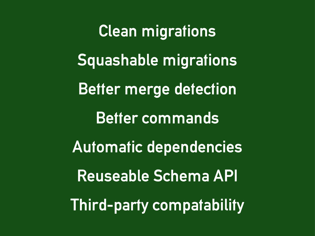 Third-party compatability Squashable migrations...