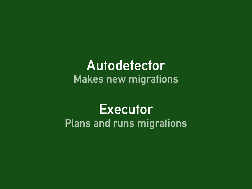 Autodetector Executor Makes new migrations Plan...