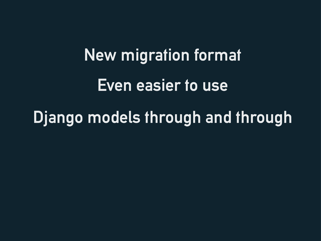 New migration format Django models through and ...