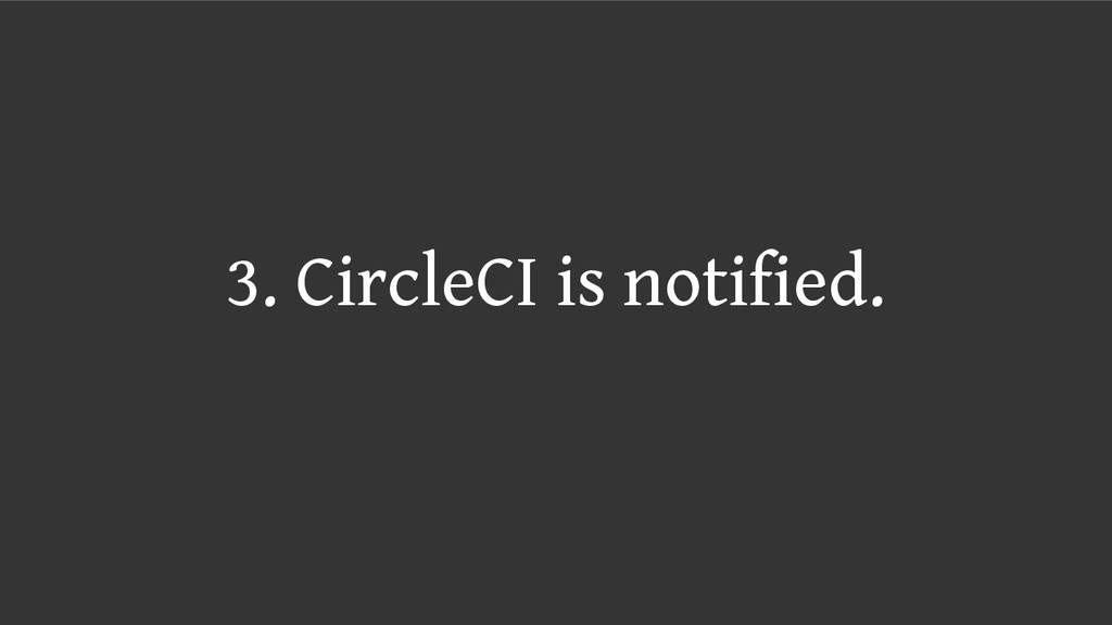 3. CircleCI is notified.