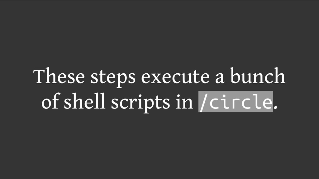 These steps execute a bunch of shell scripts in...