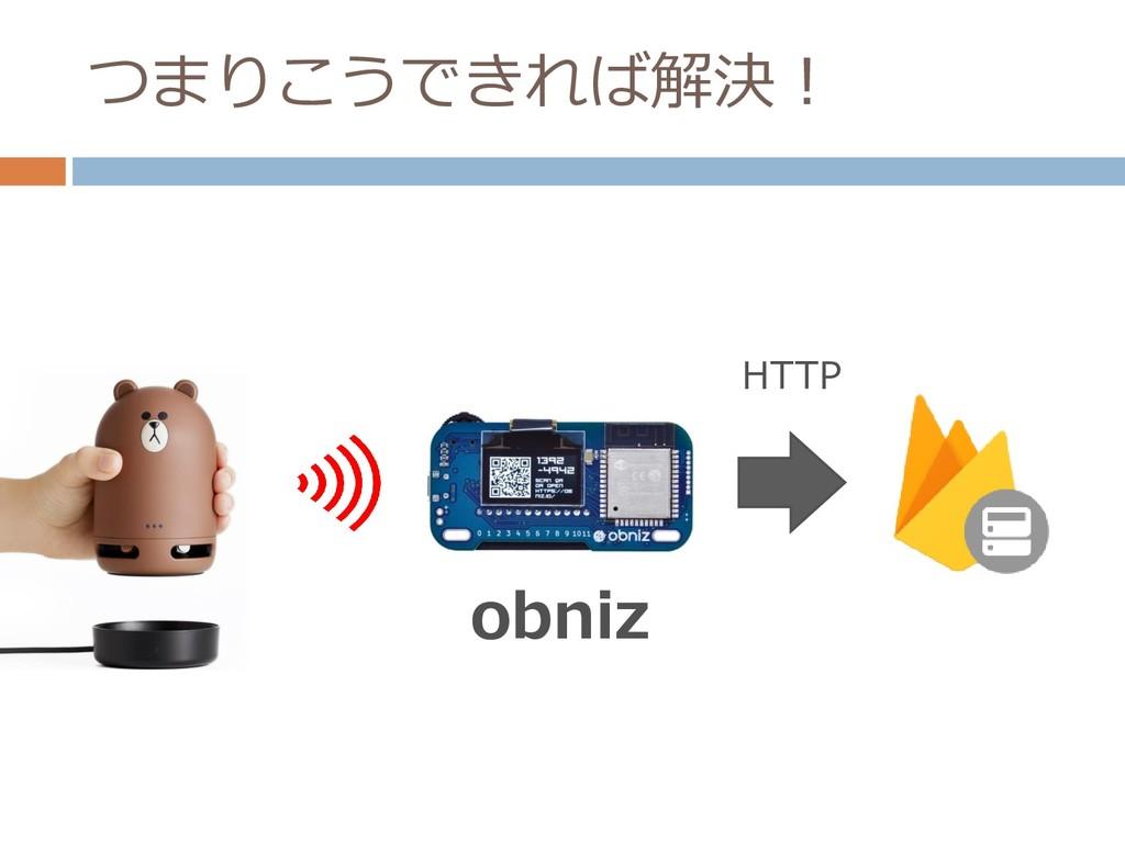 つまりこうできれば解決! obniz HTTP