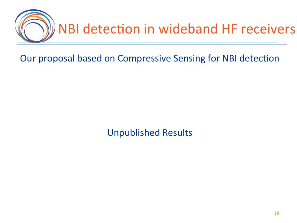NBI(detec7on(in(wideband(HF(receivers( 18( Our(...