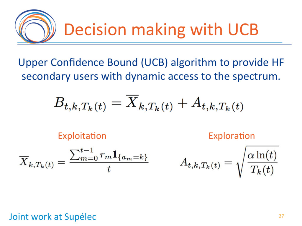 Decision(making(with(UCB( Upper(Confidence(Bound...