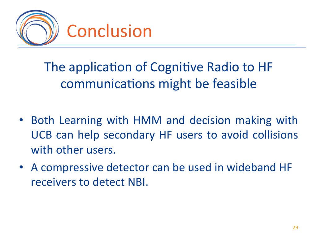Conclusion( The(applica7on(of(Cogni7ve(Radio(to...