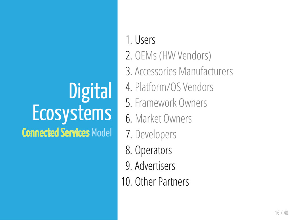 16 / 48 Digital Ecosystems Connected Services M...