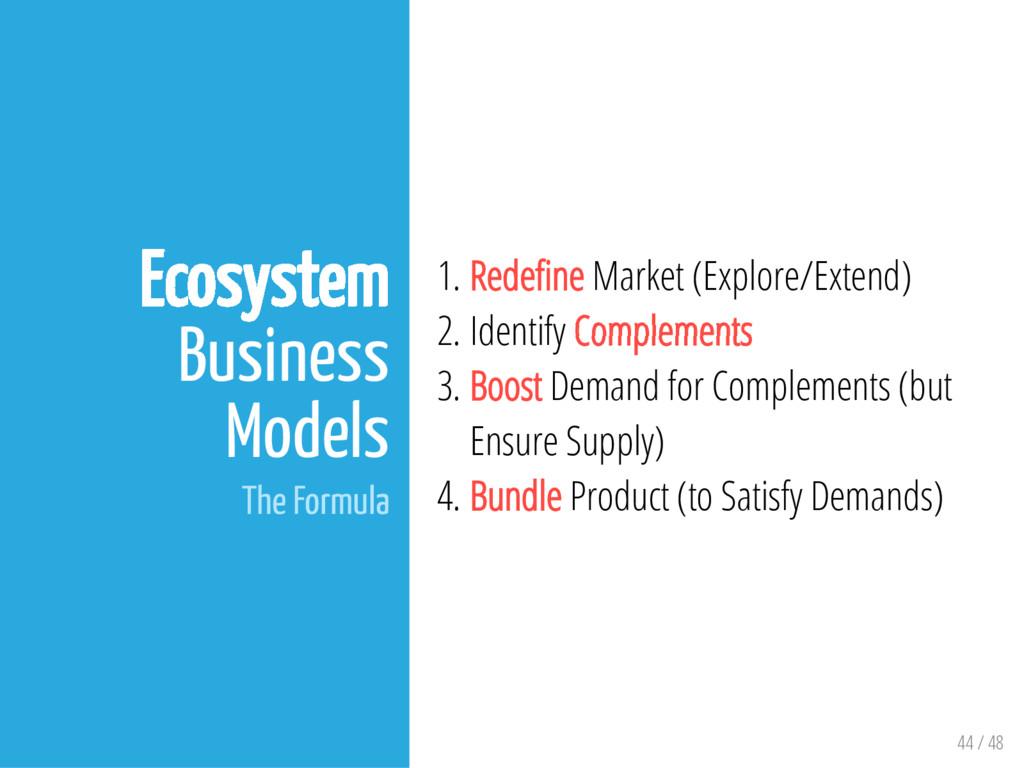 44 / 48 Ecosystem Business Models The Formula 1...