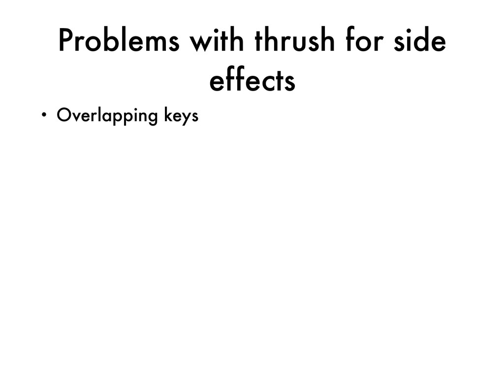 Problems with thrush for side effects • Overlap...