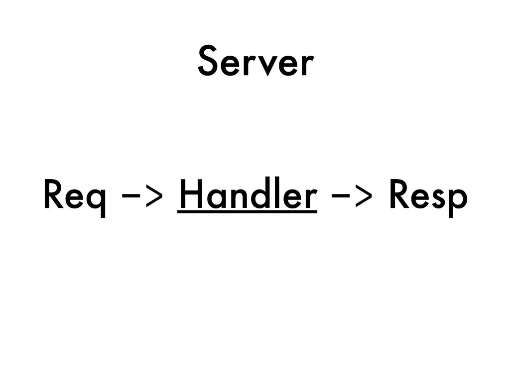 Server Req -> Handler -> Resp