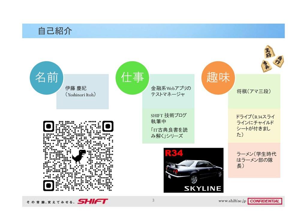 伊藤 慶紀 (Yoshinori Itoh) 名前 金融系Webアプリの テストマネージャ S...