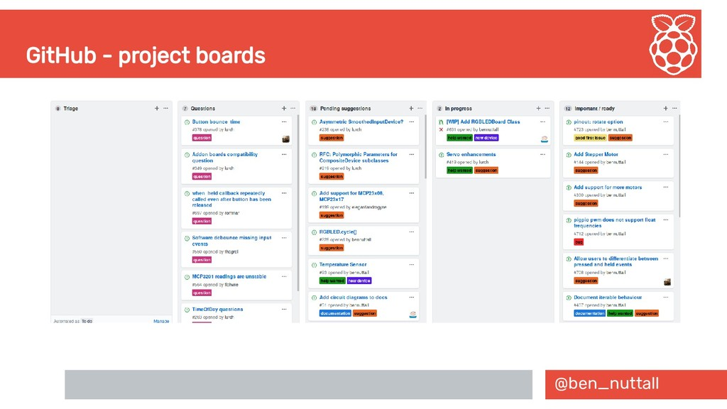 @ben_nuttall GitHub - project boards