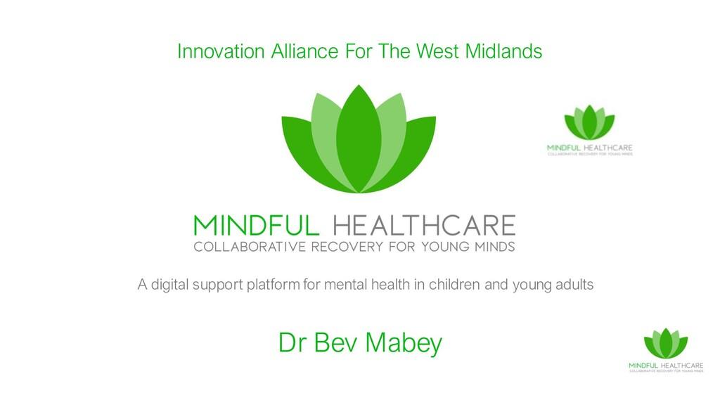 Dr Bev Mabey A digital support platform for men...
