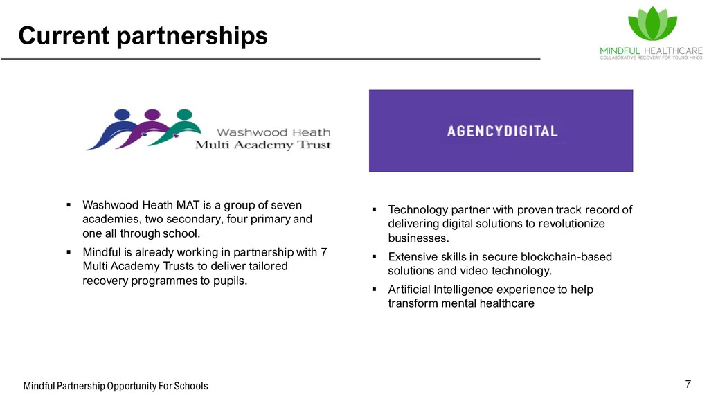 Mindful Partnership Opportunity For Schools Cur...