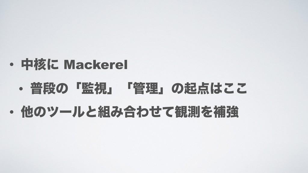 • த֩ʹ Mackerel • ීஈͷʮࢹʯʮཧʯͷى͜͜ • ଞͷπʔϧͱΈ߹Θ...