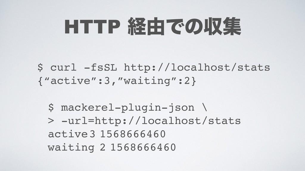HTTP ܦ༝Ͱͷऩू $ mackerel-plugin-json \ > -url=htt...