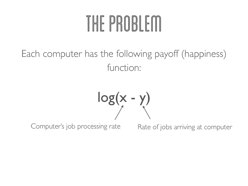 Each computer has the following payoff (happine...