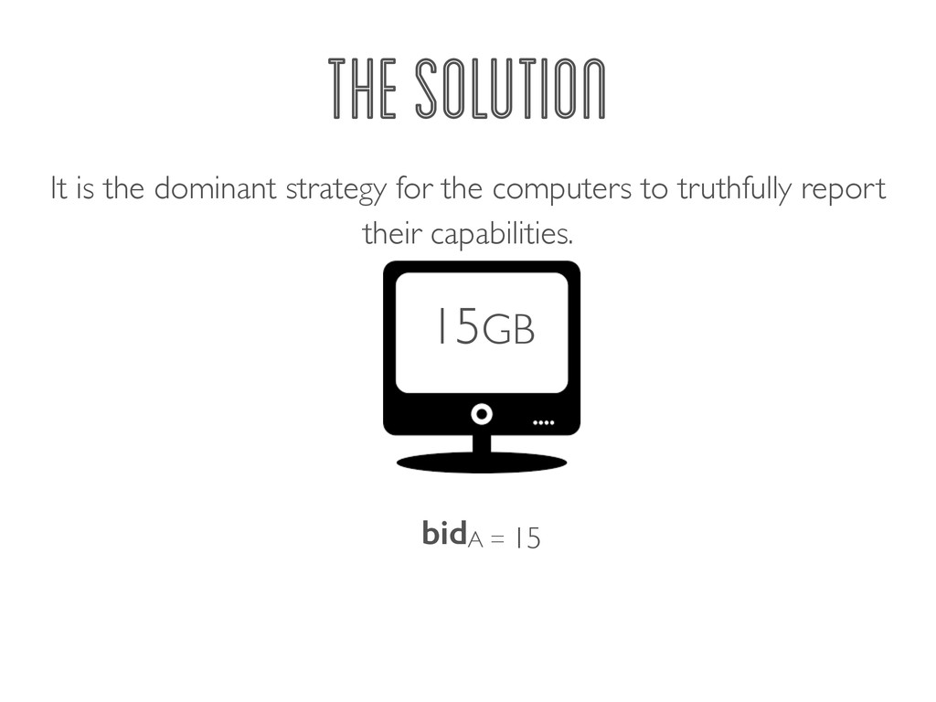 THE SOLUTION It is the dominant strategy for th...