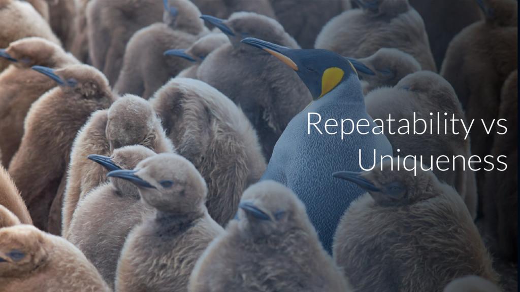 Repeatability vs Uniqueness