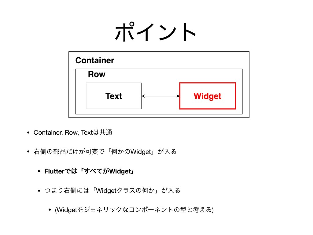 • Container, Row, Textڞ௨  • ӈଆͷ෦͚͕ͩՄมͰʮԿ͔ͷWid...