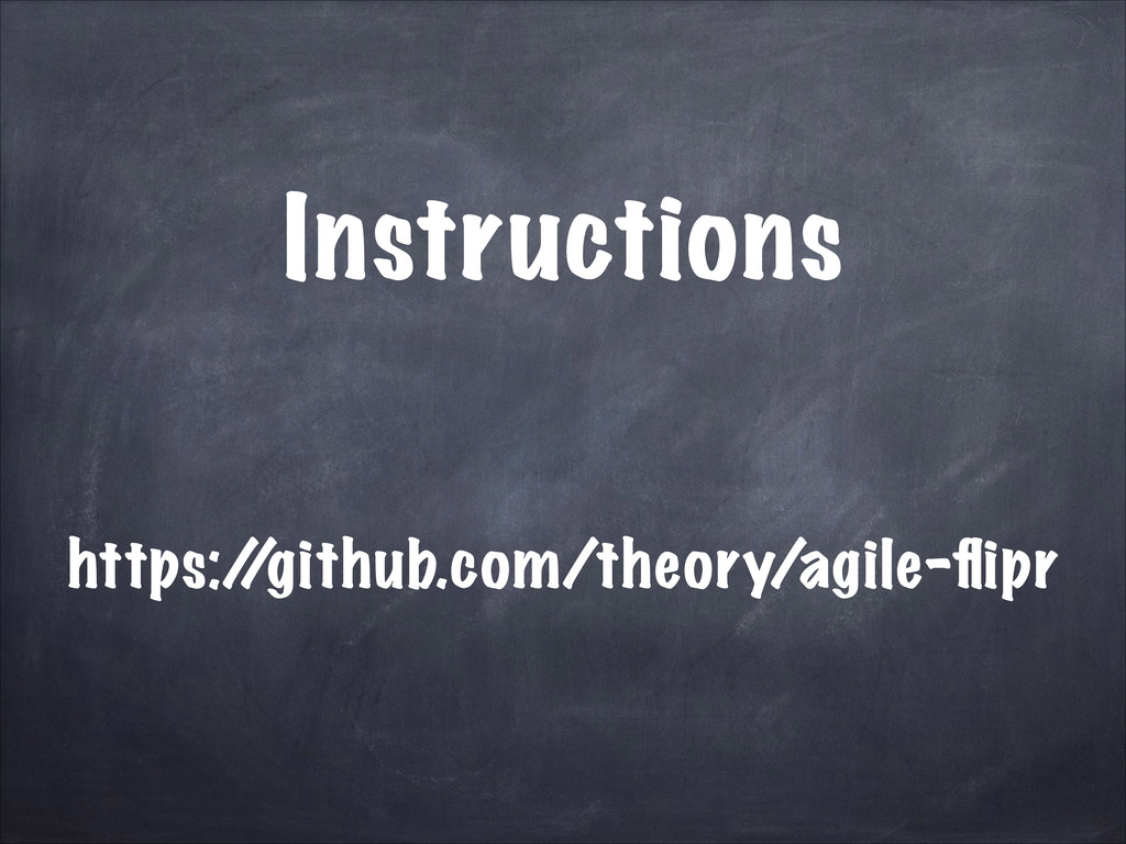 Instructions https:/ /github.com/theory/agile-fl...
