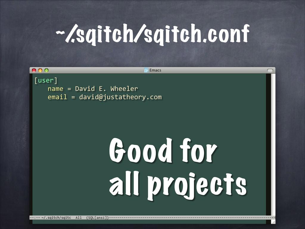 ~/.sqitch/sqitc ~/ .sqitch/sqitch.conf [user]...
