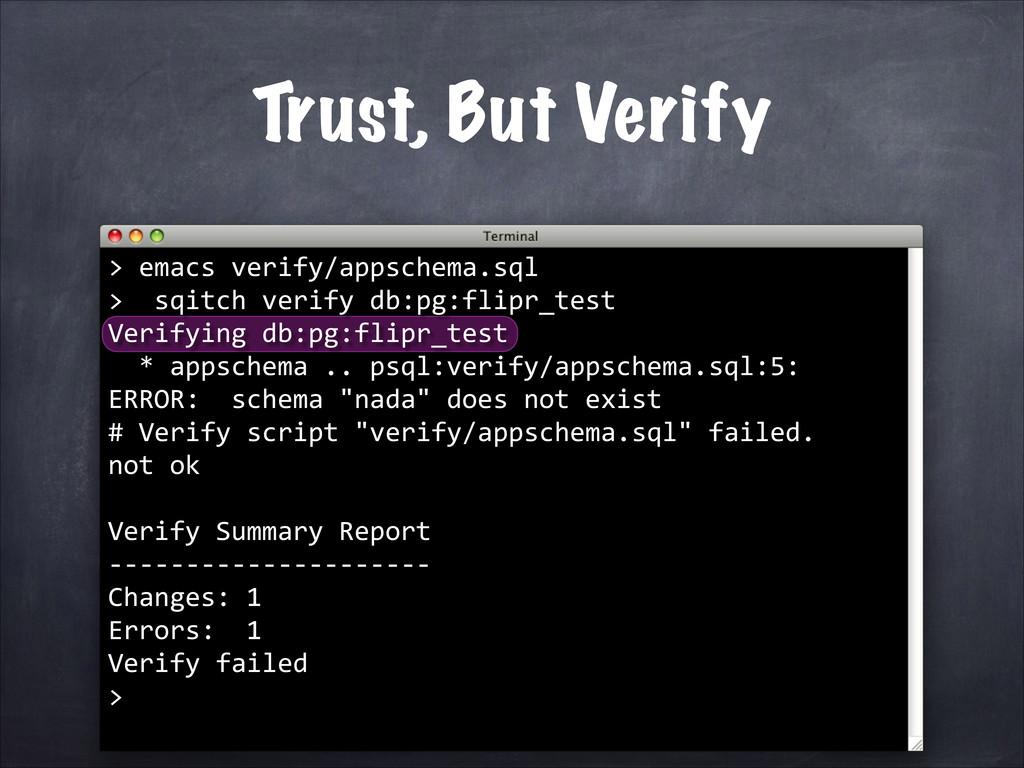 emacs verify/appschema.sql  >  ...