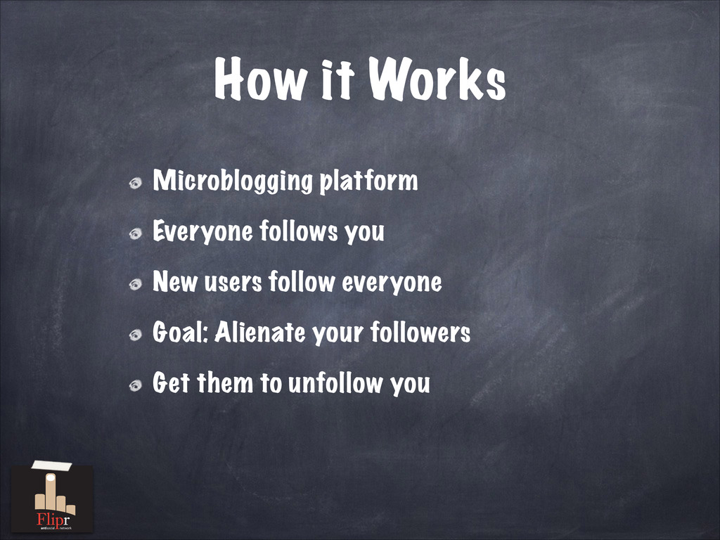 How it Works Microblogging platform Everyone fo...