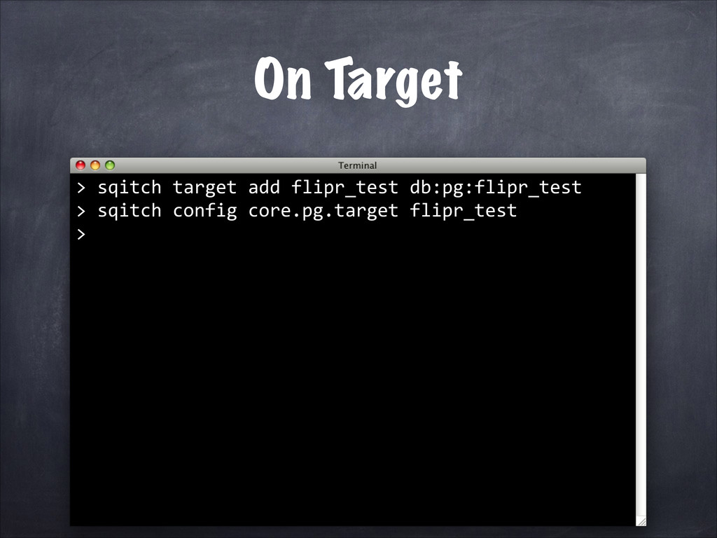 On Target > 	