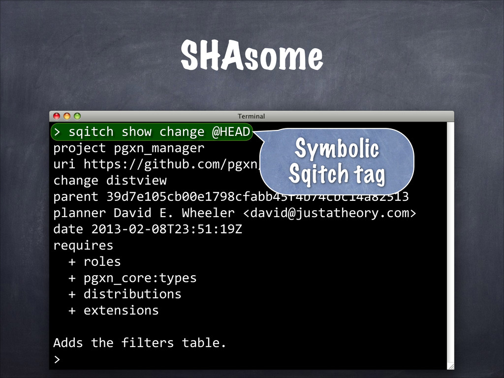 SHAsome > 	
