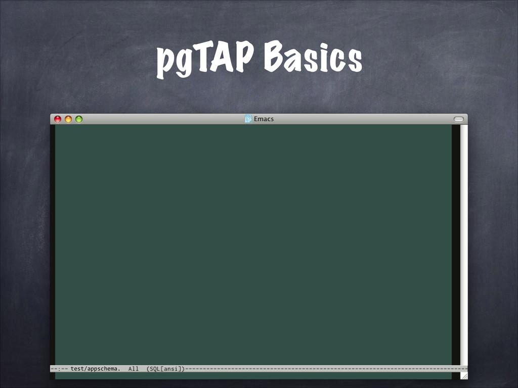 test/appschema. pgTAP Basics