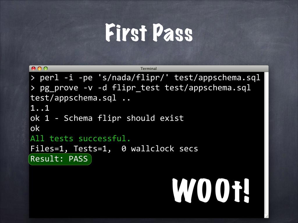 perl -‐i -‐pe 's/nada/flipr/' test/appschema....
