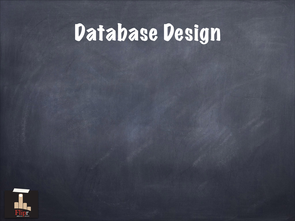 Database Design antisocial network