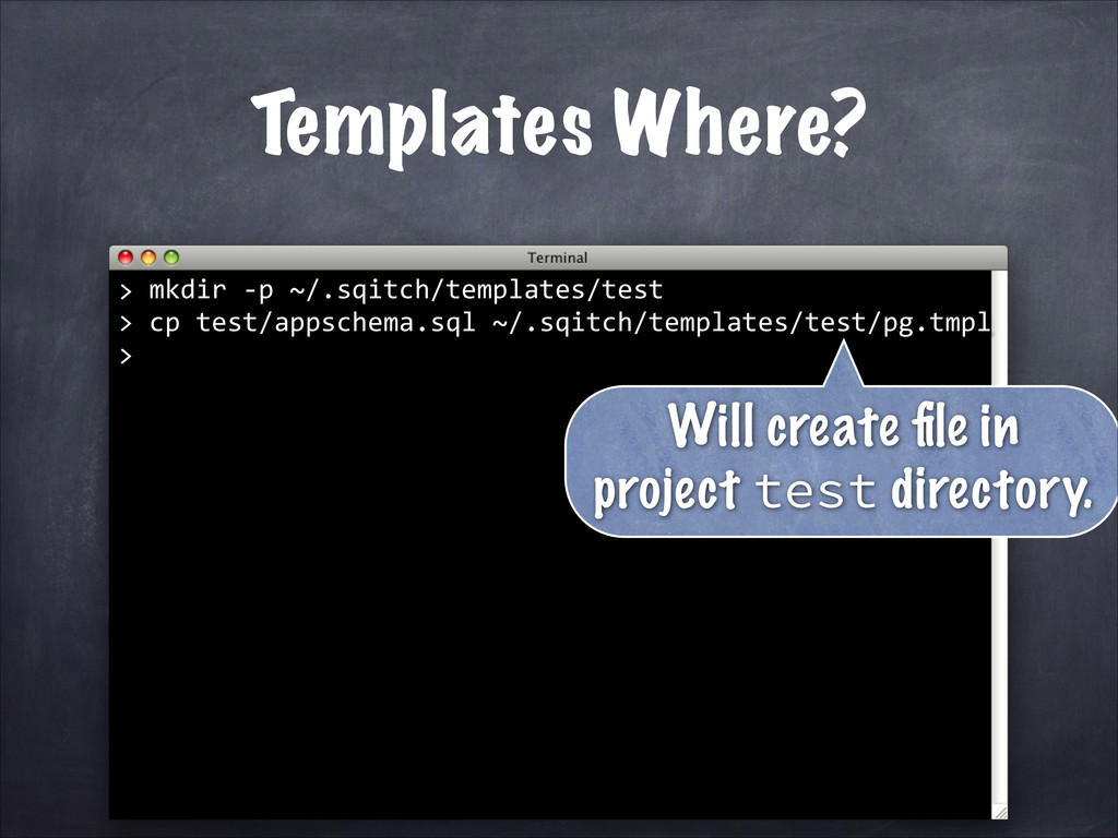 Templates Where? 	